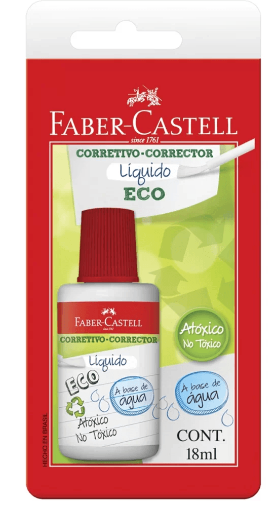 Corretivo líquido 18ml fashion club sm/107070 Faber Castell BT 1 UN