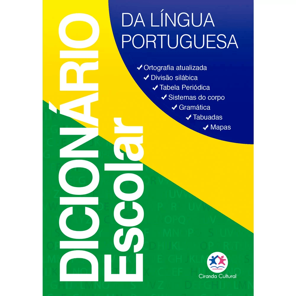 Dicionário escolar língua portuguesa Ciranda Cultural PT 1 UN