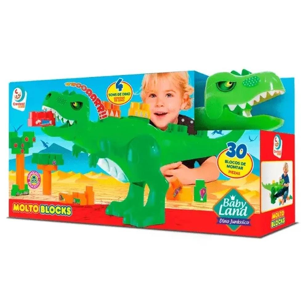 Dino Jurássico Molto Blocks 30 Peças - Cardoso