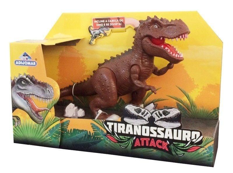 Dinossauro Tiranossauro Attack com som - Adijomar