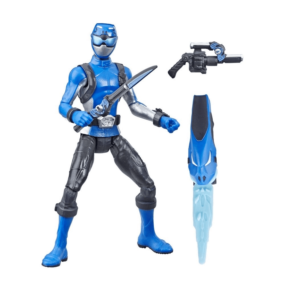 Figura Articulada - 15 Cm - Power Rangers - Beast Morphers - Blue Ranger - Hasbro