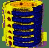 Fita Adesiva Crepe 18x10cm pacote com 06 rolos - Eurocel