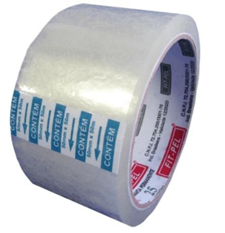 Fita adesiva pp 48mmx45m transparente FitPel PT 1 UN