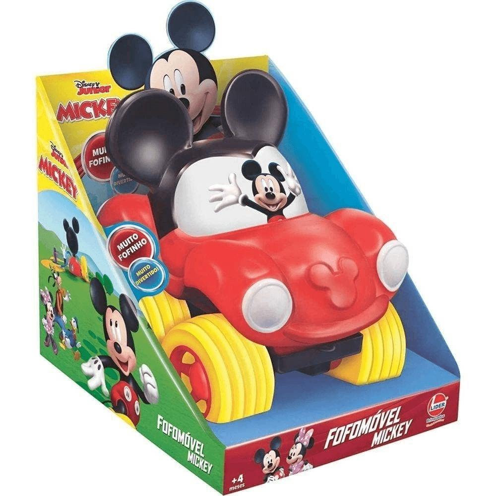 Brinquedo Veiculo Coleção Fofomóvel Disney Michey Lider