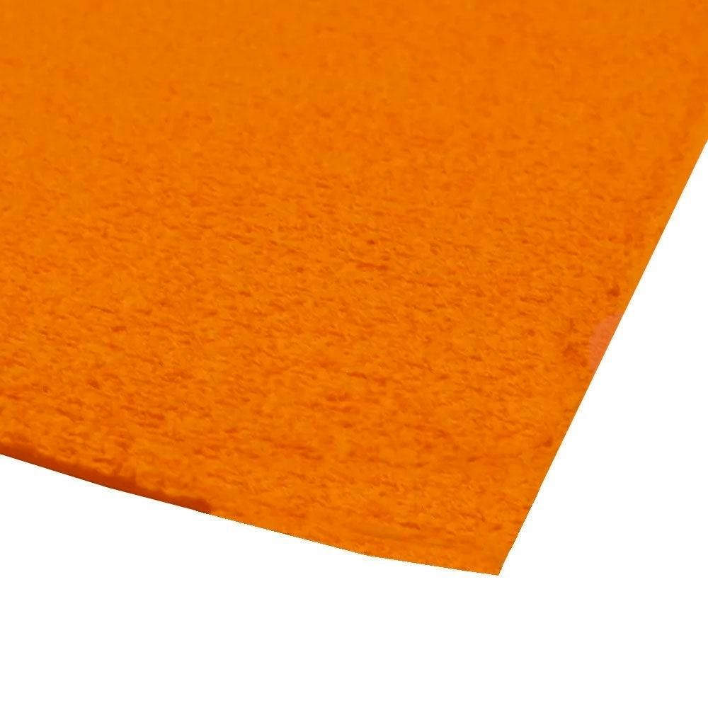 EVA placa atoalhado / Felpudo 48x40 cm - Laranja