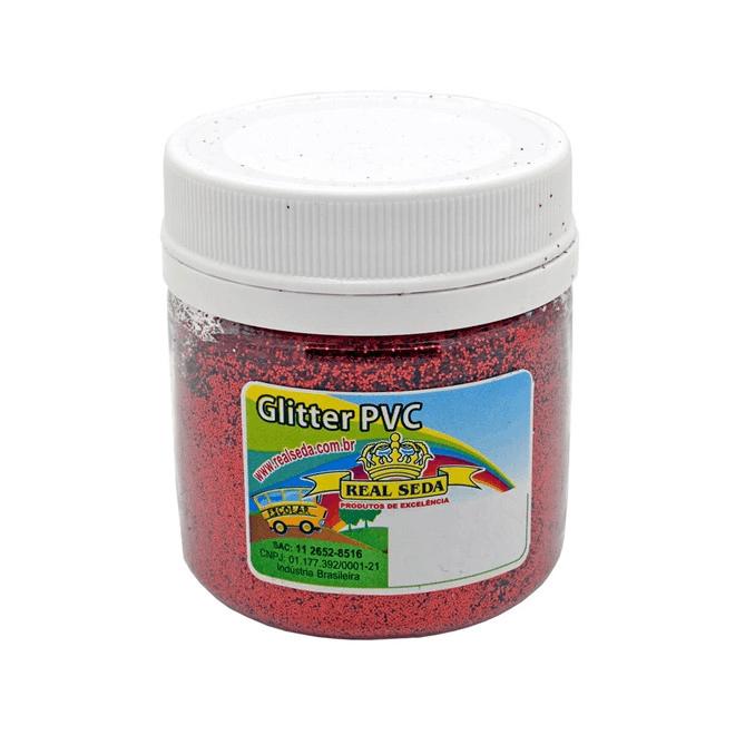 Glitter PVC Real Seda 100g - Vermelho