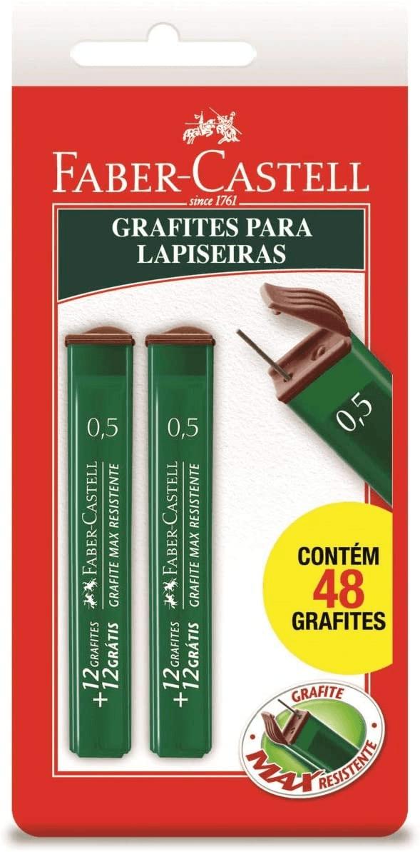 Grafite 0.5mm HB 2 Tubos de 24 Cada, Faber-Castell