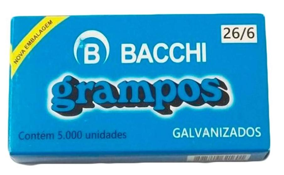 Grampo 26/6 Galvanizado Bacchi c/5000