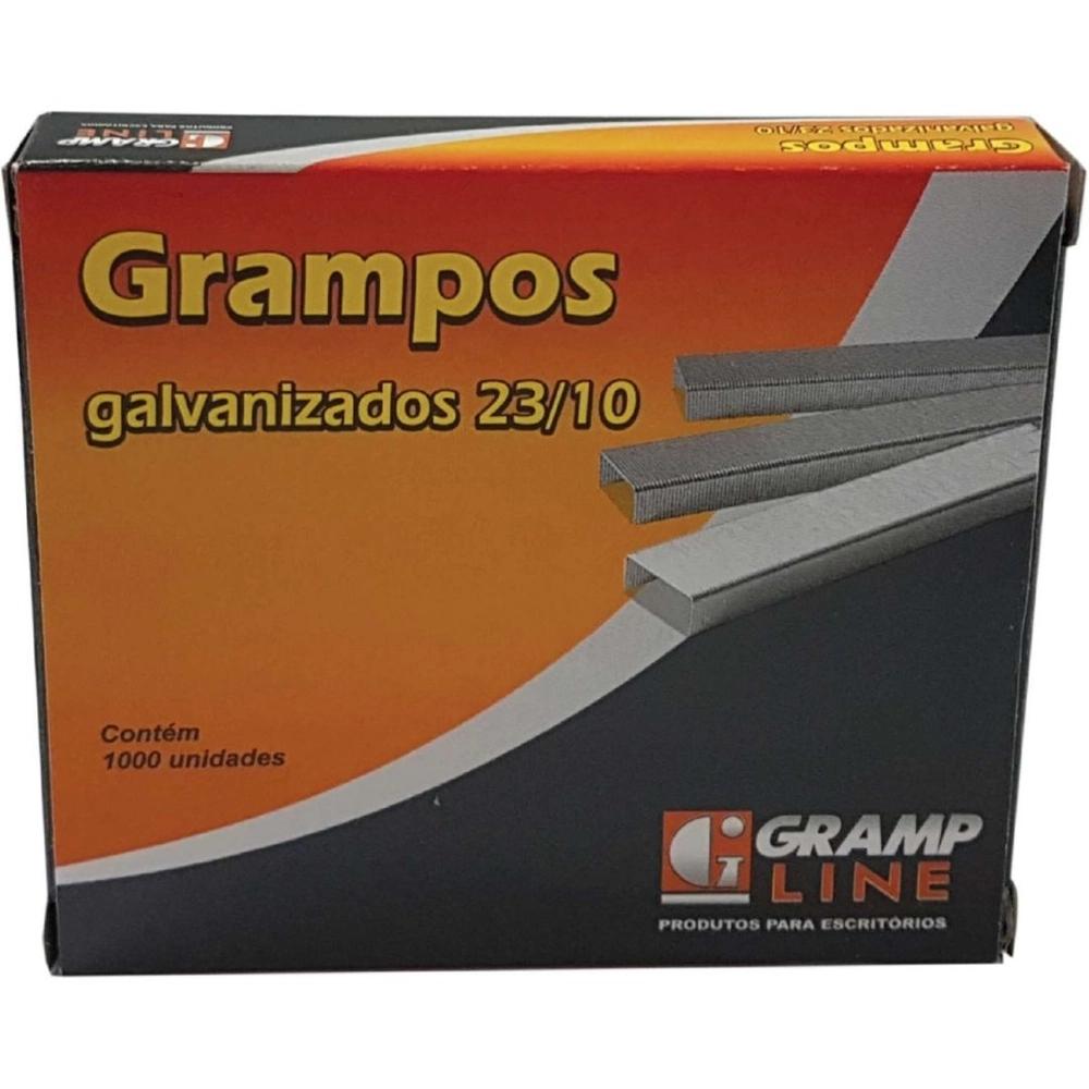 Grampo Para Grampeador 23/10 Galvanizado 1000 Grampos Gramp Line Caixa
