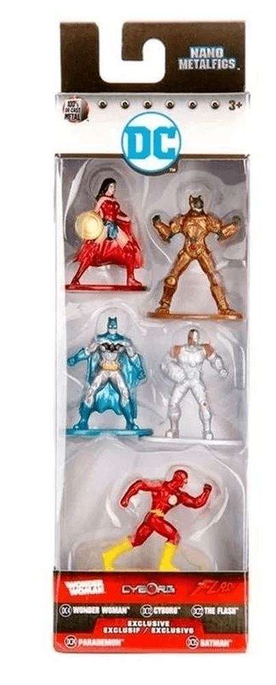 Metal Nano Dc Comics Pack com 5 - Dtc - Pack A
