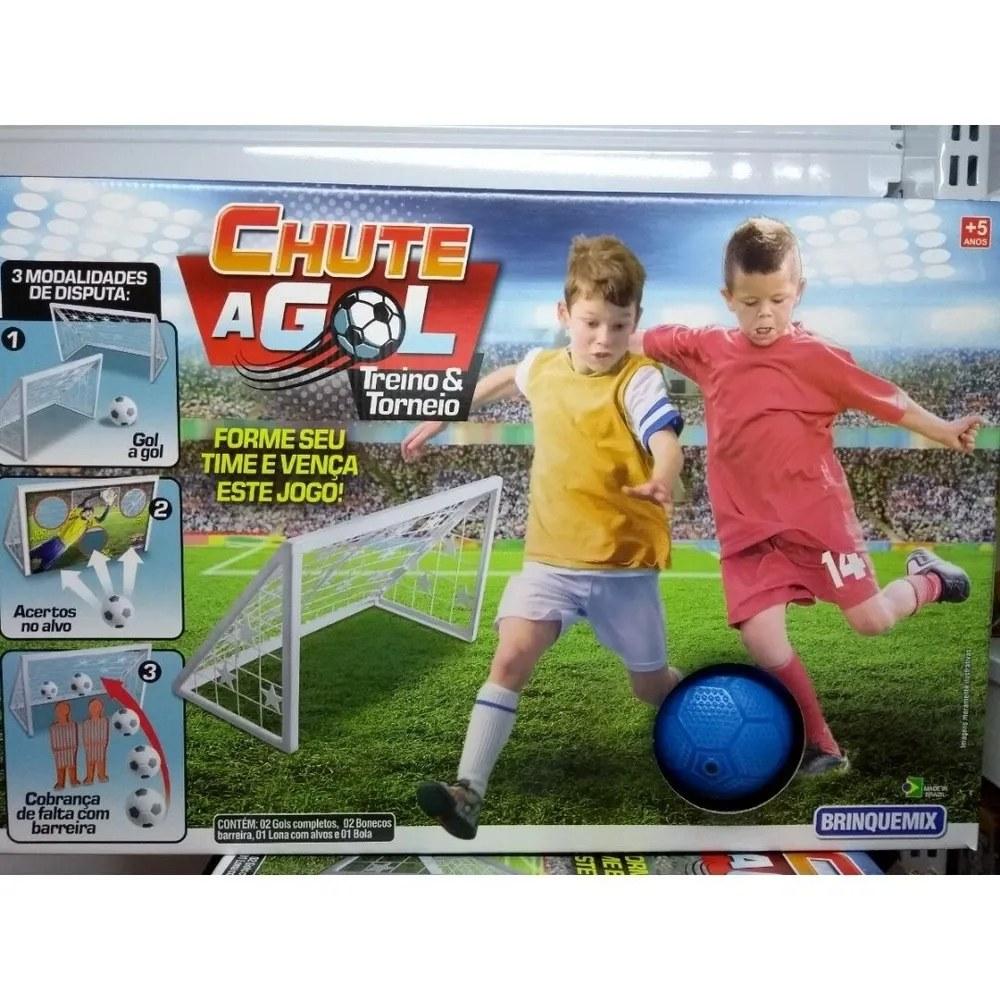 Jogo Chute a Gol - 3 Modalidades de treino e torneio - Brinquemix