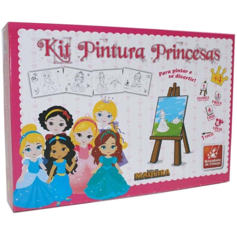 Kit de Pintura Princesas - Brinquedo Educativo em Madeira