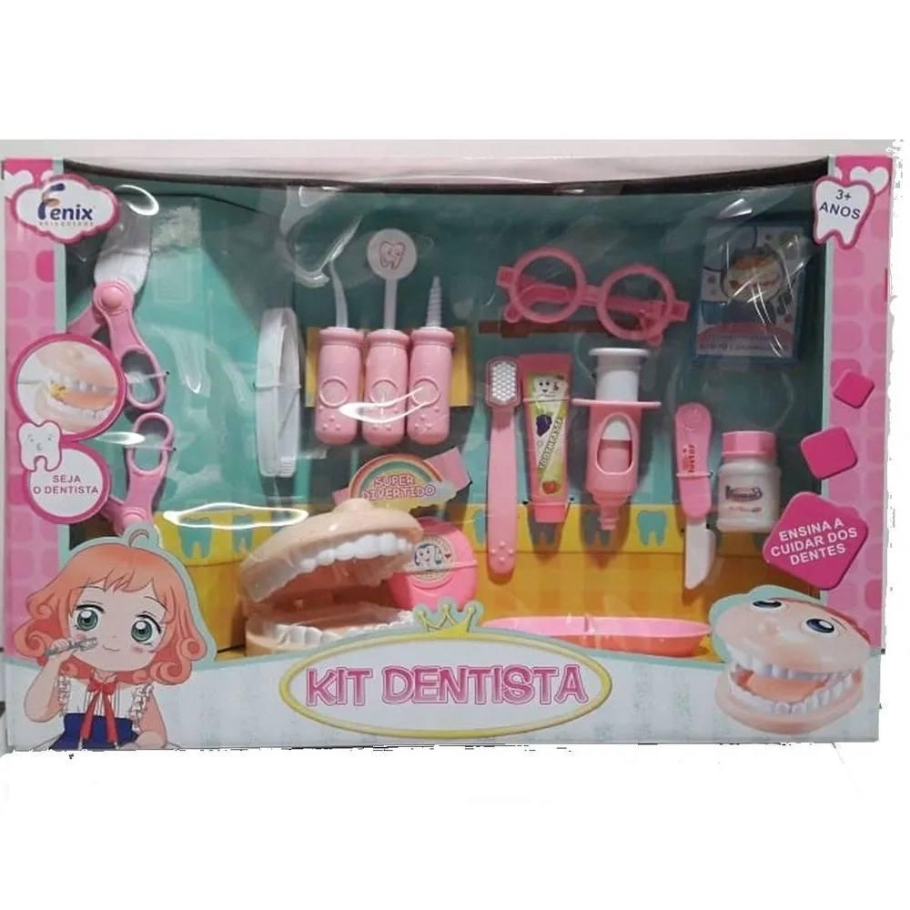 Kit Dentista Rosa ou Azul - Fênix