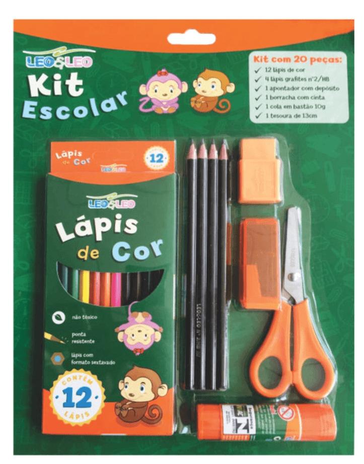 Kit Escolar 20 Peças - Leo Leo