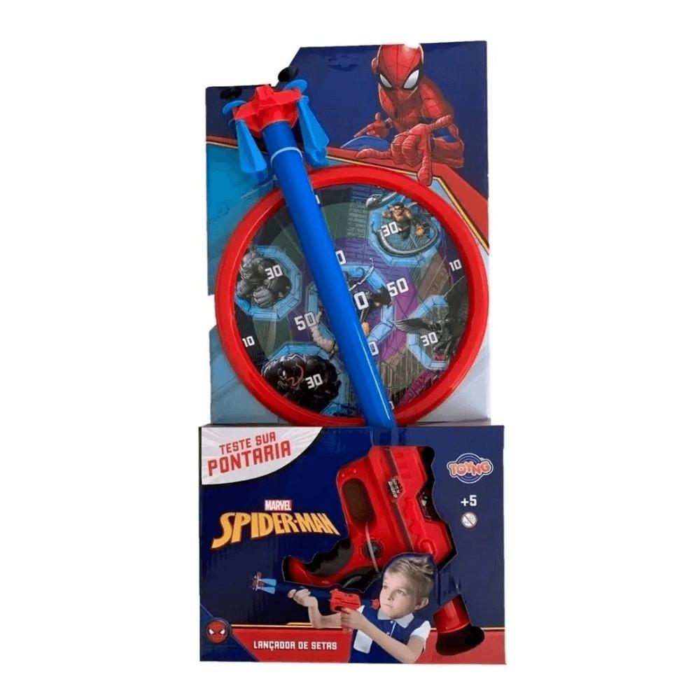 Lançador de Dardos Marvel Homem Aranha com Alvo Toyng
