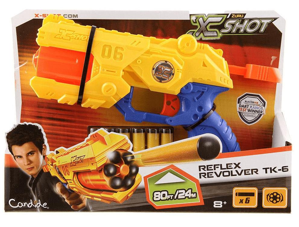 Lançador X-Shot Reflex Revolver Tk-6 - Candide