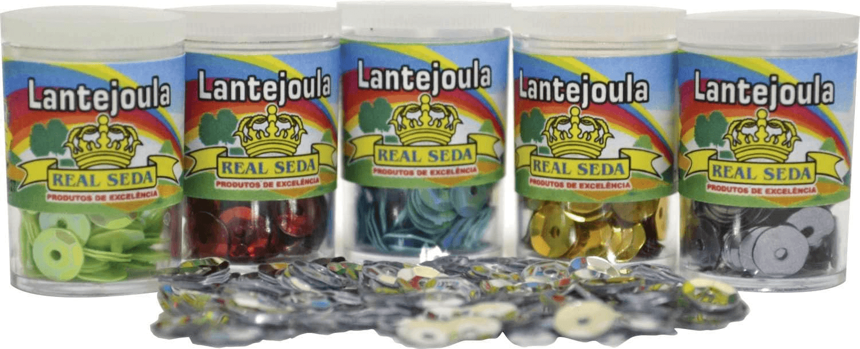 Lantejoula Potes 2G, Multicores, 12 unidades Real Seda