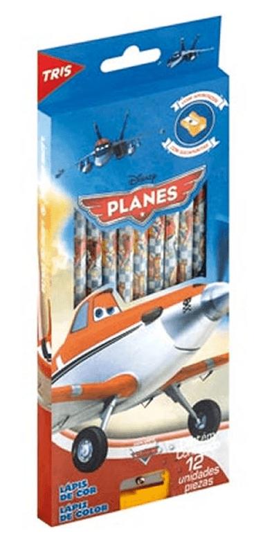 Lápis 12 Cores Planes Tris