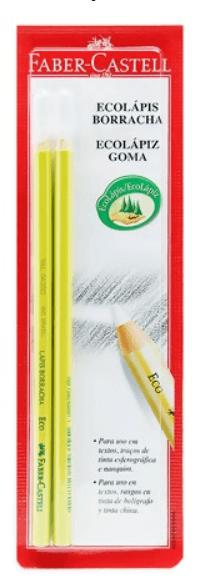 Lápis Borracha Faber-Castell SM107000 Com 02 Und