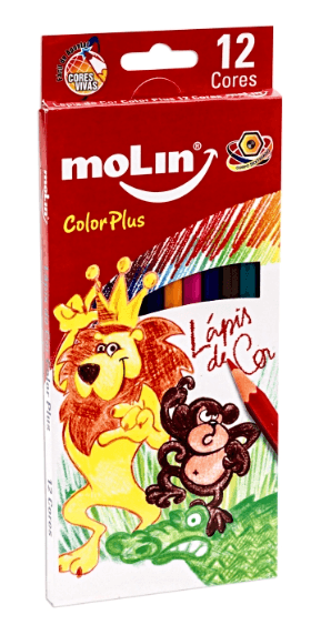 Lapis de Cor color plus CX12 Cores Molin Pers