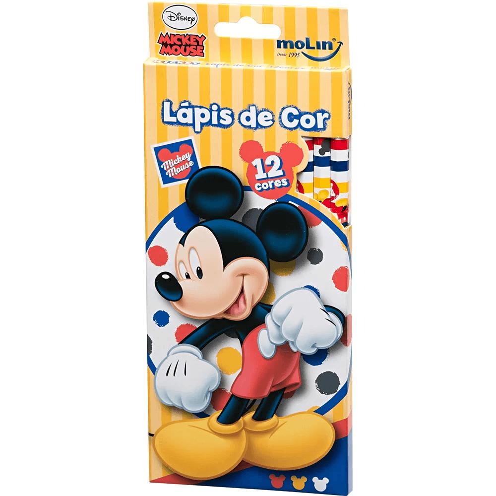 Lapis de Cor Mickey Mouse CX12 Cores Molin Pers