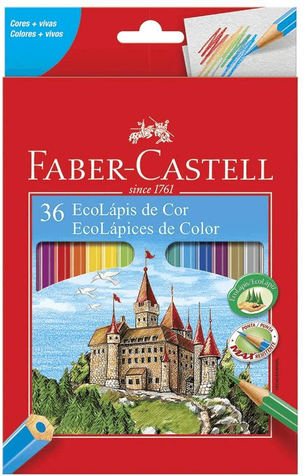 Lápis de Cor Sextavado Faber-Castell EcoLápis 36 Cores