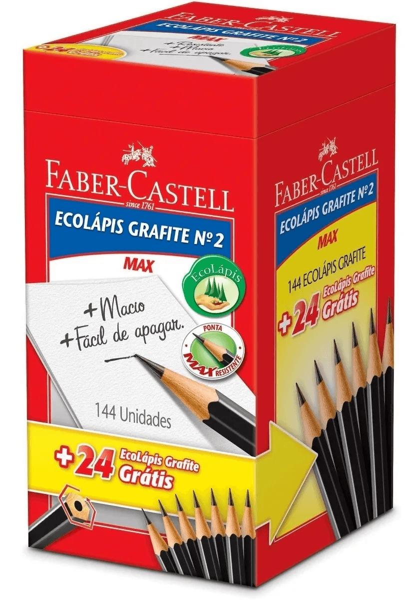 Lápis Preto Nº 2 Ecolápis Faber-castell C/144+24 Promoção