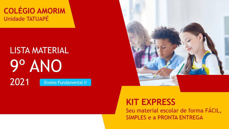 Lista Material Escolar 2021 - 9º Ano - Ensino Fundamental II