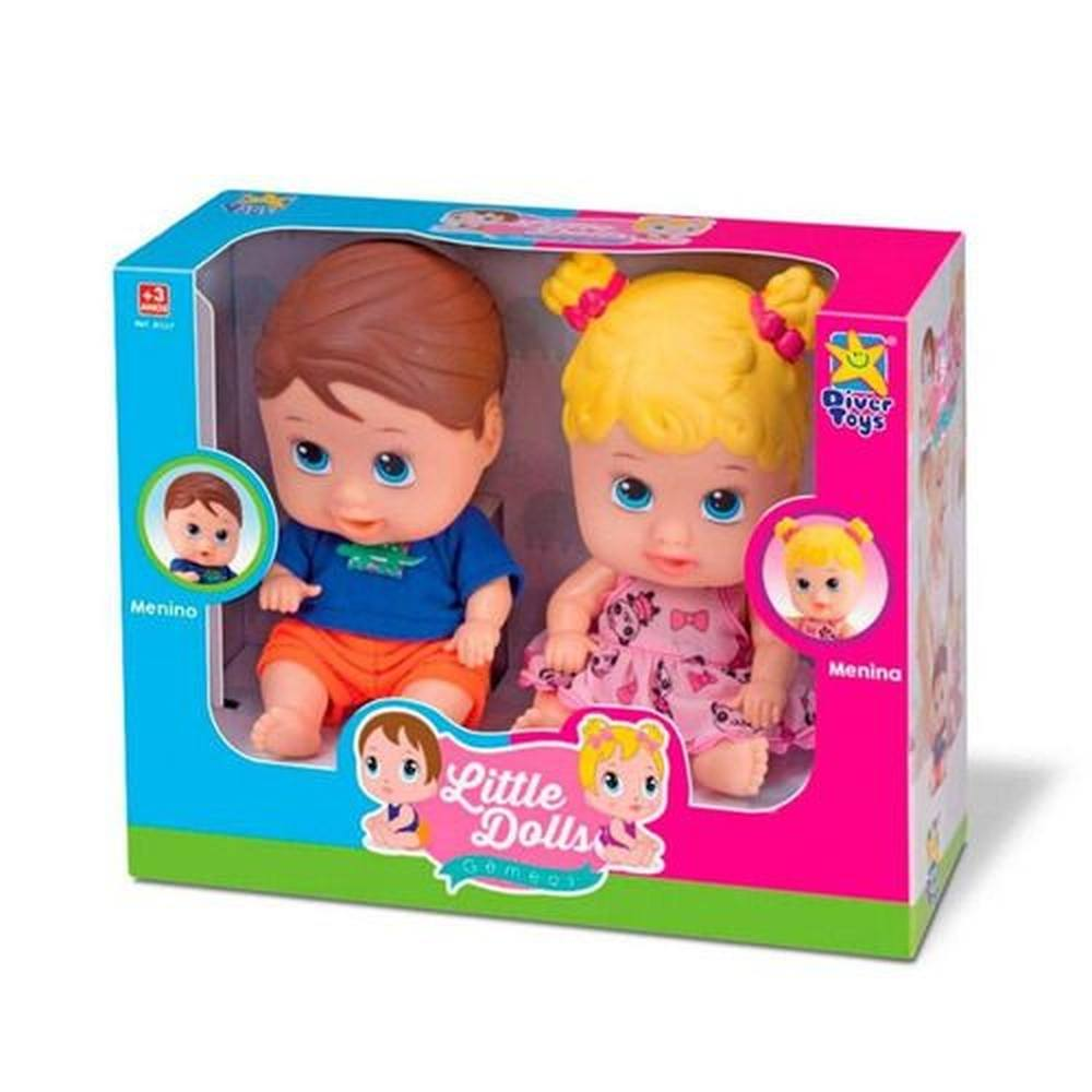 Little Dools Gêmeos menina e menino - Divertoys