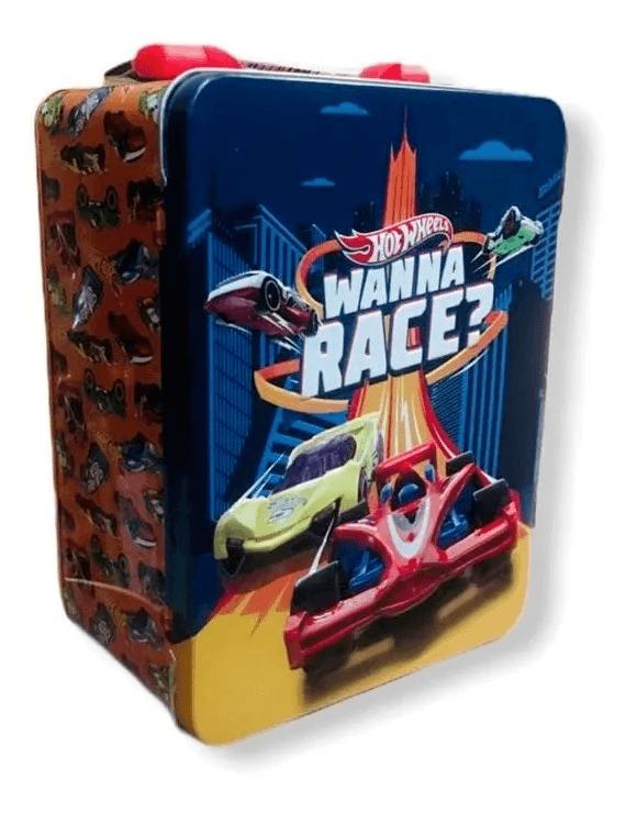 Maleta Metálica - Hot Wheels - Box para 18 - Wanna Race - Barão Atacadista
