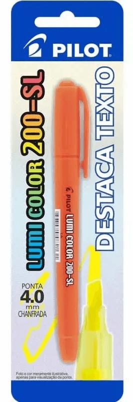 Marcador De Texto Lumi Color Laranja 200-sl Pilot 01754