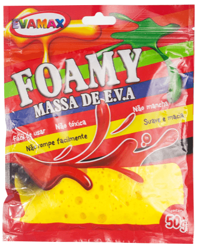Massa de Eva 50g - Foamy Color Amarelo - Evamax