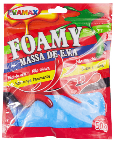 Massa de Eva 50g - Foamy Color Azul - Evamax