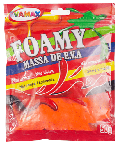 Massa de Eva 50g - Foamy Color Laranja - Evamax