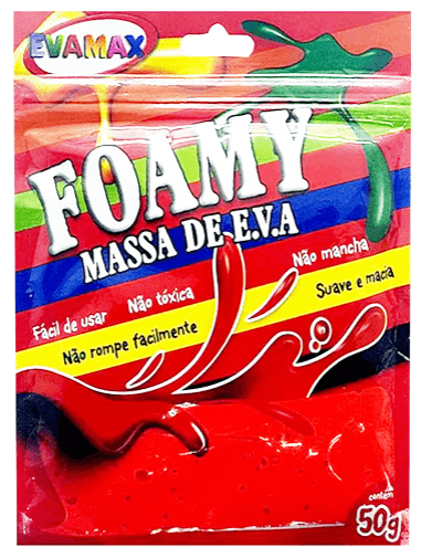 Massa de Eva 50g - Foamy Color Vermelho - Evamax