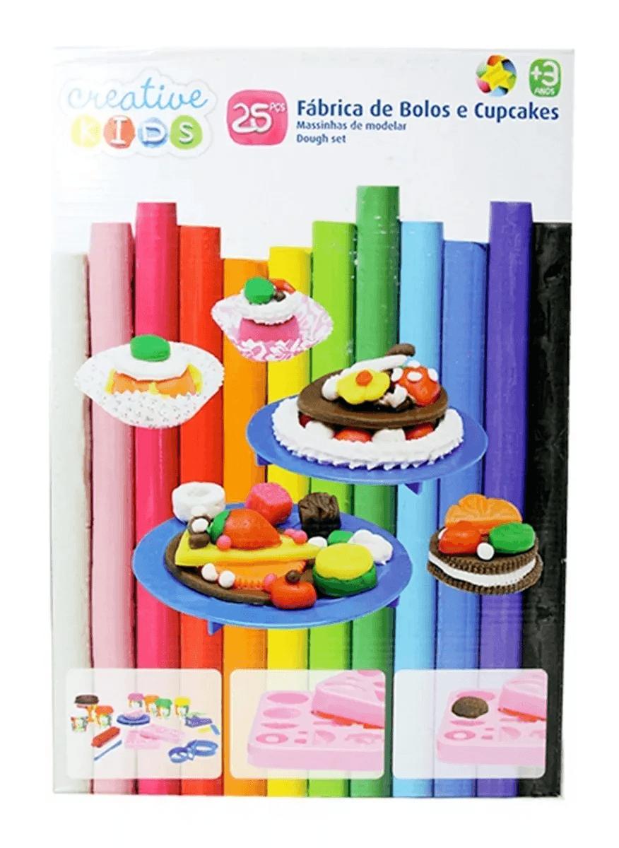 Massa De Modelar - Fábrica De Bolos E Cupcakes - 25 Peças