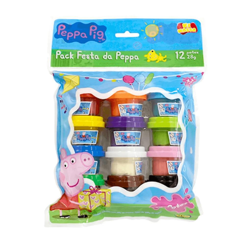 Massinha da Peppa Pig - Pack Festa da Peppa 12 potes - Sunny