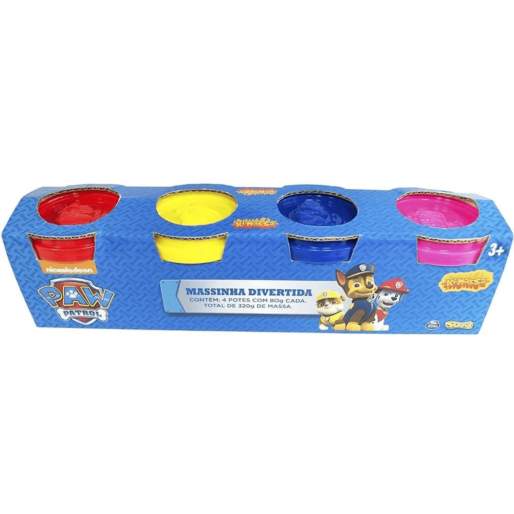 Massinha Divertida Patrulha Canina Kit 4 Potes Sortidos 1370