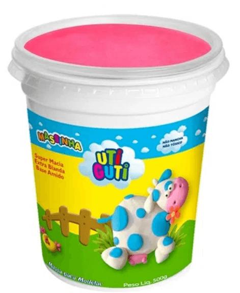 Massinha Uti Guti Pote 500 g - Rosa