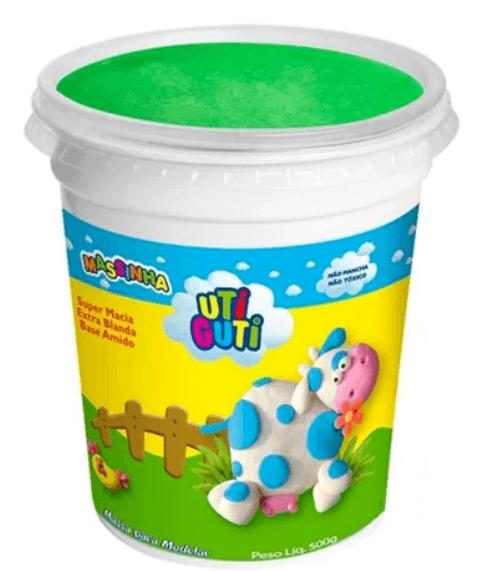 Massinha Uti Guti Pote 500 g - Verde
