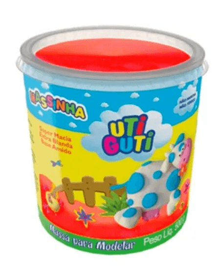 Massinha Uti Guti Pote 500 g - Vermelha