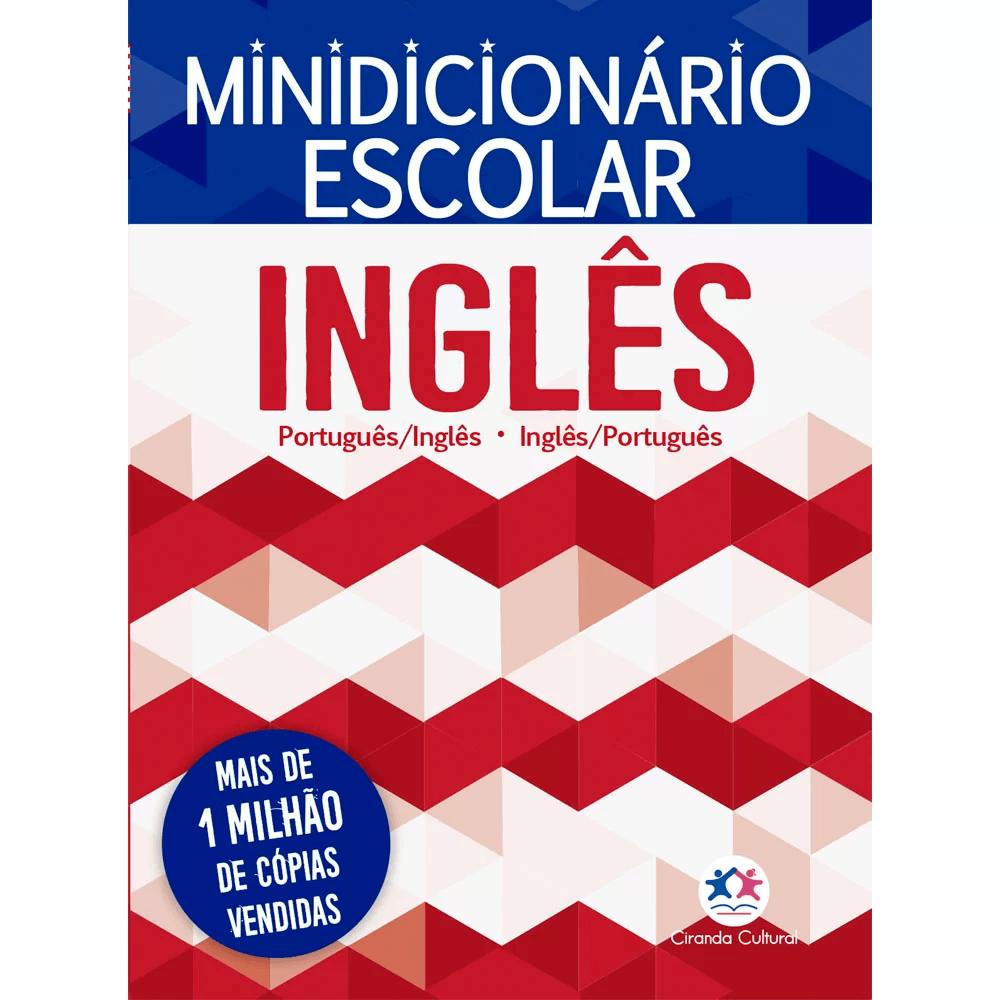 Mini-Dicionário escolar Inglês - Português Ciranda Cultural PT 1 UN
