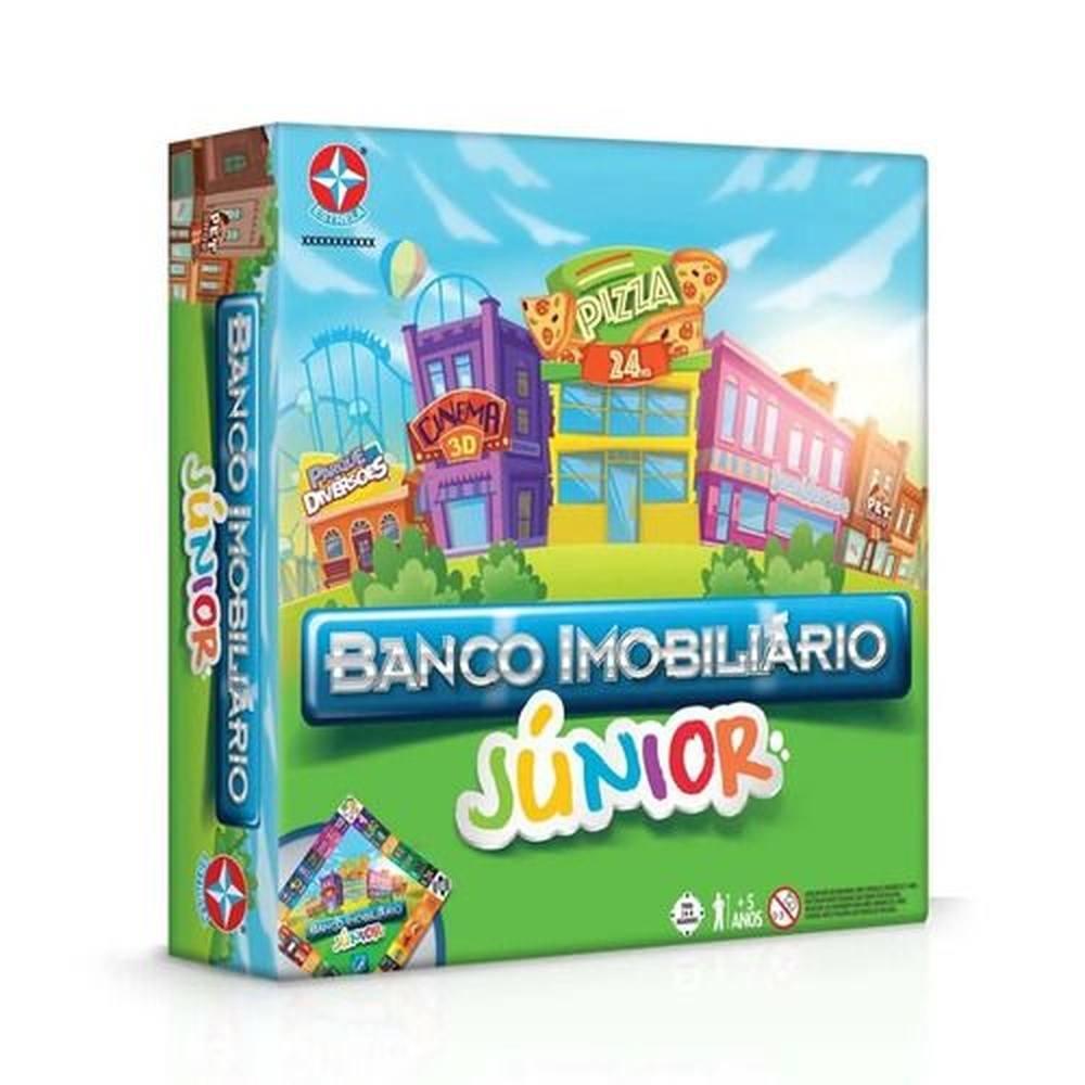Novo Jogo De Tabuleiro Banco Imobiliario Junior Estrela