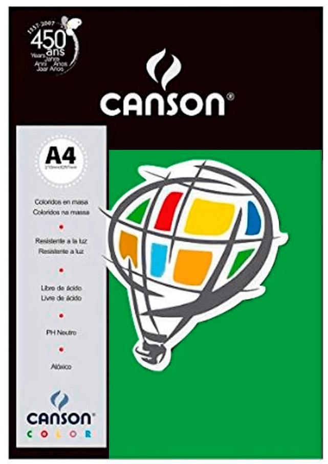 Papel Color Vivaldi A4 180g verde - com 10 folhas - Canson