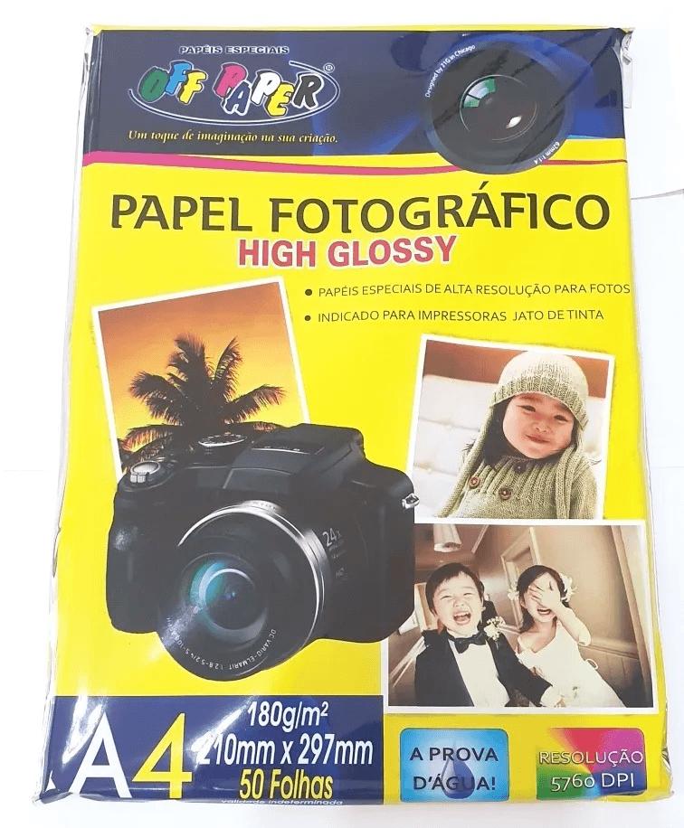 Papel Fotografico A4 180g/ Kit Pacotes C/50 Folhas