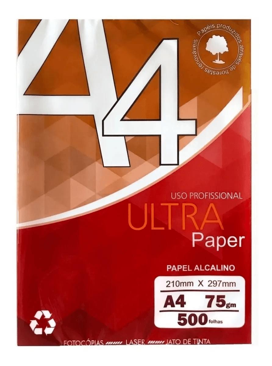 Papel A4 Sulfite 500 Folhas 210m X 297mm Ultra Paper