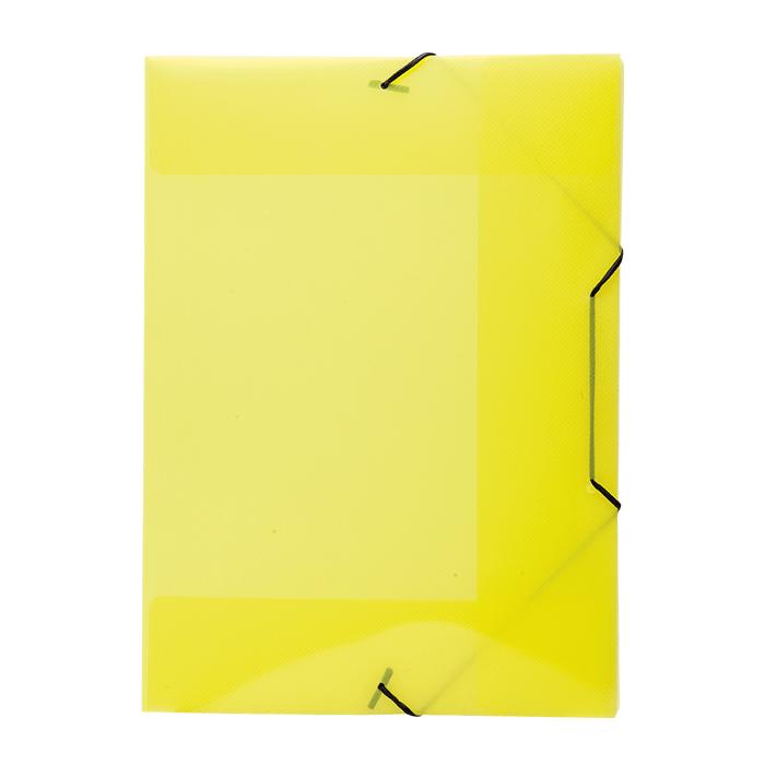 Pasta com aba elástico polipropileno A4 Amarela line A02 Dello PT 1 UN