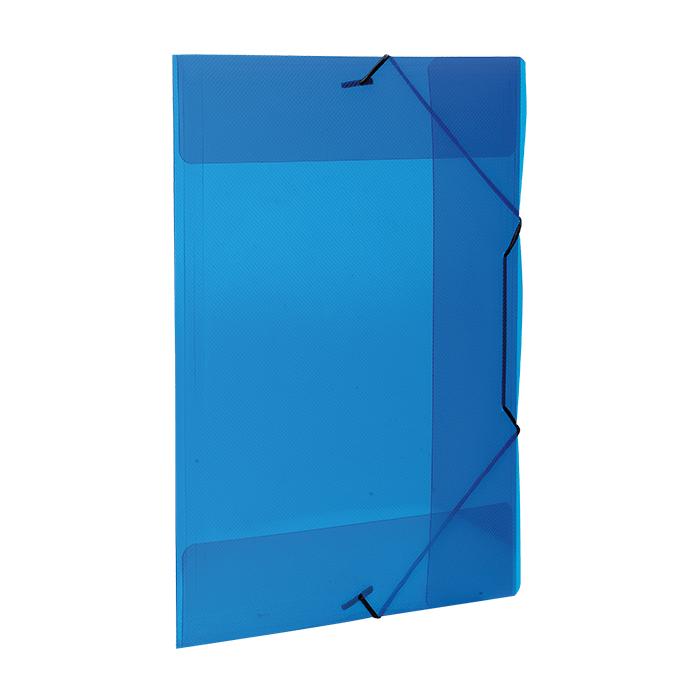 Pasta com aba elástico polipropileno A4 Azul line A02 Dello PT 1 UN