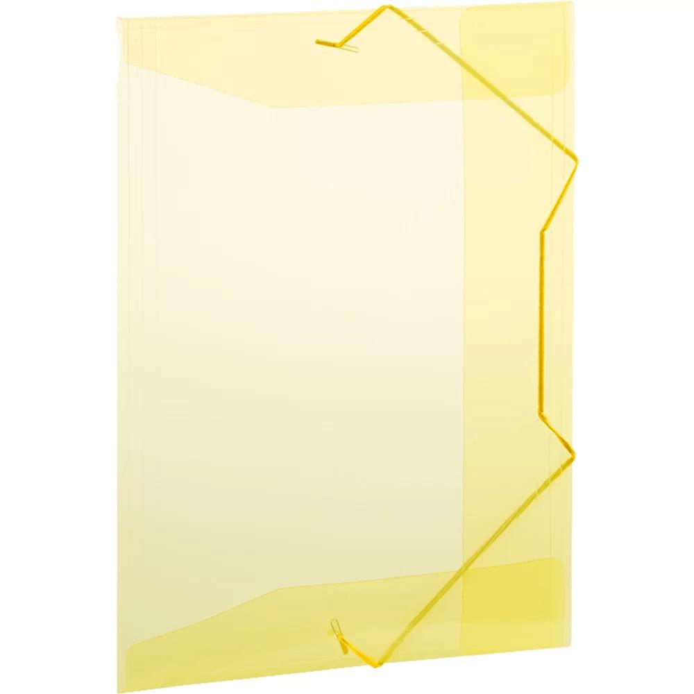 Pasta com aba elástico polipropileno Ofício amarelo A02 Plascony PT 1 UN