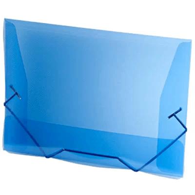 Pasta com aba elástico polipropileno Ofício azul A02 Plascony PT 1 UN